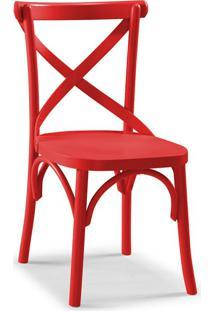 Cadeira De Jantar X Vermelha