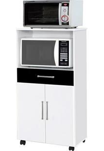 Gabinete De Cozinha Ipe Para Forno E Microondas 2 Pt 1 Gv Branco E Preto