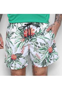 Boardshorts Colcci Es2 Ccs Praia Floral Masculino - Masculino-Branco