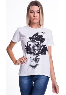 Camiseta Jazz Brasil Palhaã§O Branco - Branco - Feminino - Algodã£O - Dafiti