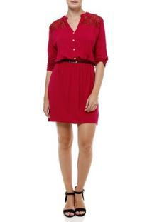 Vestido Curto Feminino Rosa Pink