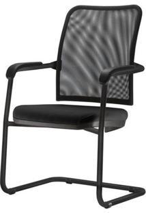 Cadeira Soul Assento Em Courissimo Base Fixa Preta - 54252 Sun House
