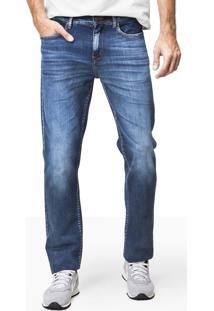 Calça Khelf Calça Jeans Masculina Reta Azul
