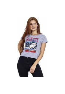 Camiseta Sideway Mulher Maravilha Force - Cinza