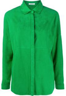 P.A.R.O.S.H. Jaqueta Com Recorte Em Camurça - Verde