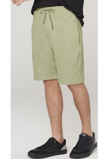 Bermuda Moletom Masculina Com Amarração - Verde