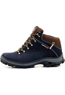 Bota Atron Shoes Adventure Azul Marinho