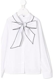 Piccola Ludo Blusa Com Detalhe De Laço - Branco