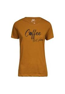 Camiseta Feminina Coffee Khaki