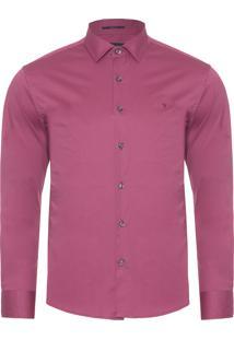 Camisa Masculina Lisa Tinturada - Vermelho
