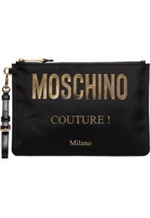 Moschino Porta-Moedas Com Logo - Preto