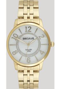 Relógio Analógico Seculus Feminino - 28948Lpsvda1 Dourado - Único