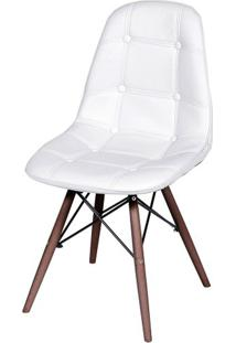 Cadeira Eames Botone Branca Base Escura - 44871 - Sun House