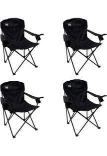 Kit 4 Cadeiras Nautika Dobráveis Com 2 Posta Copos Pandera - Unissex