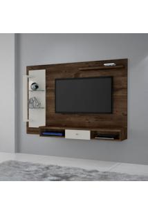 Painel Para Tv Até 50 Polegadas Cromo Cacau E Off White