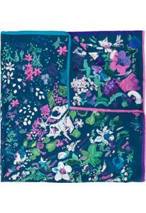 Salvatore Ferragamo Cachecol Com Padronagem Floral - Azul