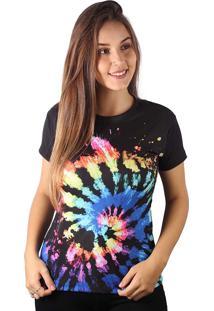 Camiseta Baby Look Espiral Splash Tie Dye Md08