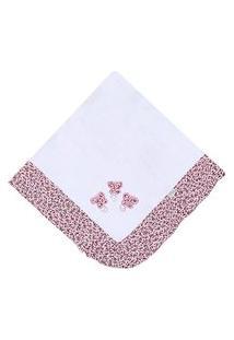 Manta Enxoval Piquet Padroeira Baby Borboletas Rosa