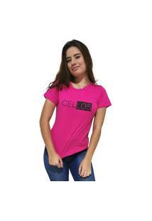 Camiseta Feminina Cellos Half Box Premium Rosa