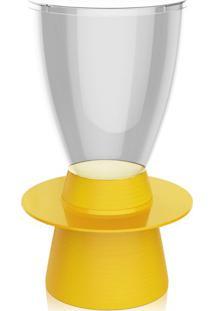 Banco | Banqueta Tin Policarbonato Cristal E Amarelo I'M In