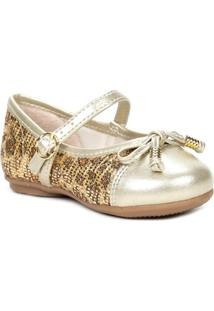 Sapato Infantil Para Bebê Menina Dourado - Feminino-Dourado