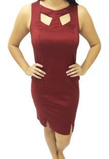 Vestido Liso Energia Fashion Vermelho