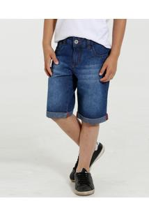 Bermuda Infantil Jeans Barra Dobrada Marisa