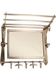 Espelho Decorativo De Parede Com Cabideiros Kuito