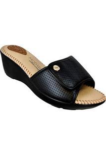 Sandalia Conforto Preta Velcro Modare 59005012