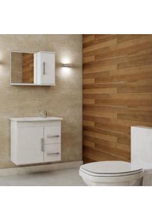 Gabinete De Banheiro Vix Com Espelho - Branco - Mgm
