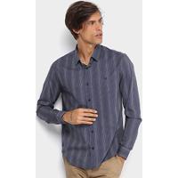 057af19668 Camisa Calvin Klein Slim Fit Listras Masculina - Masculino