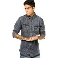fc44909b8 Camisa Azul Textura masculina | Shoes4you