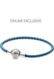 Bracelete Couro Concha Do Mar - Pandora Ocean