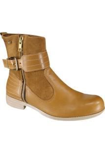 d6908ae158 Ankle Boot Amarela Cravo E Canela feminina