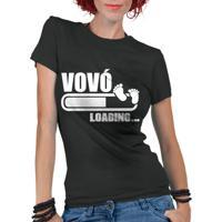 Camiseta Criativa Urbana Frases Vovó Loading Preto 4b0f0bf4125