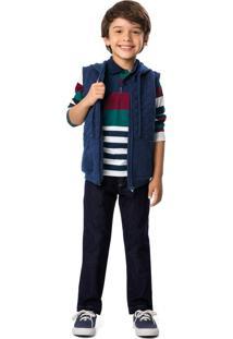 Calça Jeans Tradicional Menino Malwee Kids