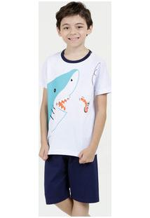 Pijama Infantil Mancga Curta Estampa Frontal Marisa