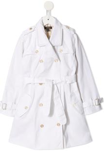 Velveteen Trench Coat Taylor - Branco