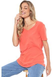 Camiseta Sacada Lisa Laranja