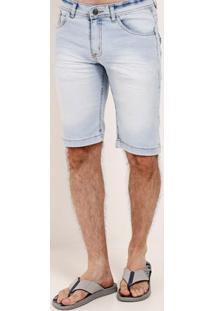 Bermuda Jeans Estonada Vels Masculina Azul