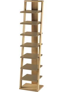 Prateleira Suspensa Stairway 1132 Palha/Marrom Médio - Maxima
