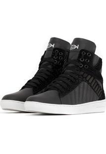 Sneaker K3 Fitness Trendy Preto - Preto - Feminino - Couro LegãTimo - Dafiti