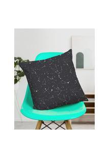 Amaro Feminino Design Up Living Capa De Almofada Constelação 42X42, Preto