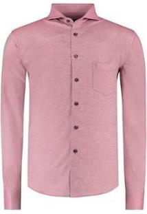 Camisa Vr Maquinetada Masculina - Masculino-Vermelho