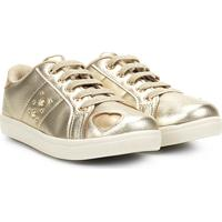 8f1aa9c26 Tênis Infantil Klin Gloss Street Metalizado Menina - Feminino-Dourado