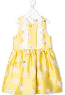 Hucklebones London Vestido Com Acabamento Ondulado - Amarelo