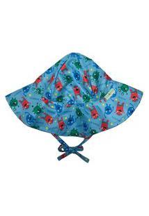 Chapéu Infantil Fpu 50+ Eco&Play Monstrinhos Azul