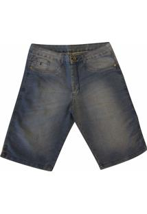 Bermuda Pau A Pique Jeans Claro
