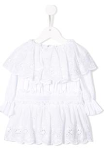 Dolce & Gabbana Kids Blusa De Bordado Inglês - Branco