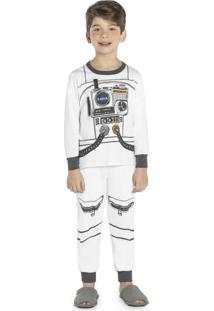 Pijama Masculino Astronauta Branco